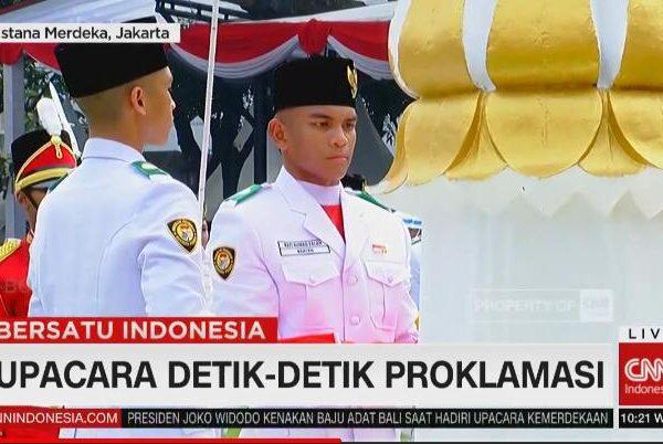 Upacara HUT Ke-74 RI, Rafi Ahmad Falah Mengharumkan Nama Provinsi Banten di Istana Merdeka