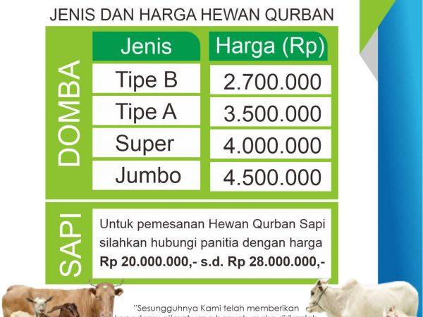 Informasi Pemesanan Hewan Qurban Koperasi Raudhatul Jannah Cilegon