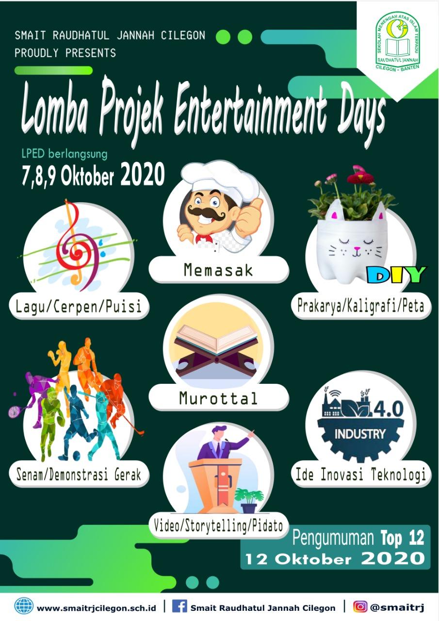 Entertainment Days di SMAIT Raudhatul Jannah Cilegon Sebagai Variasi Pembelajaran Daring
