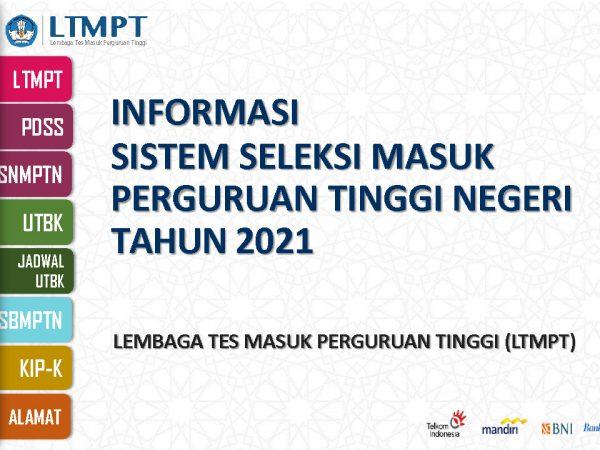 Informasi Sistem Seleksi Masuk Perguruan Tinggi Negeri Tahun 2021